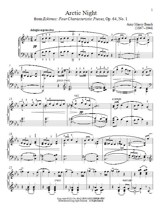 Partition piano Arctic Night de Gail Smith - Piano Solo
