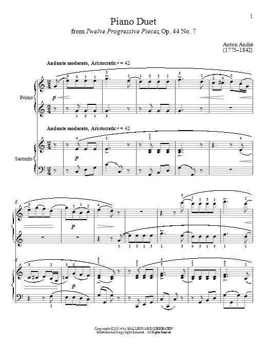 Partition piano Piano Duet de Bradley Beckman - 4 mains