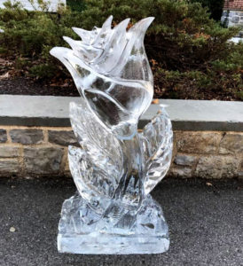 Rose Ice Sculpture