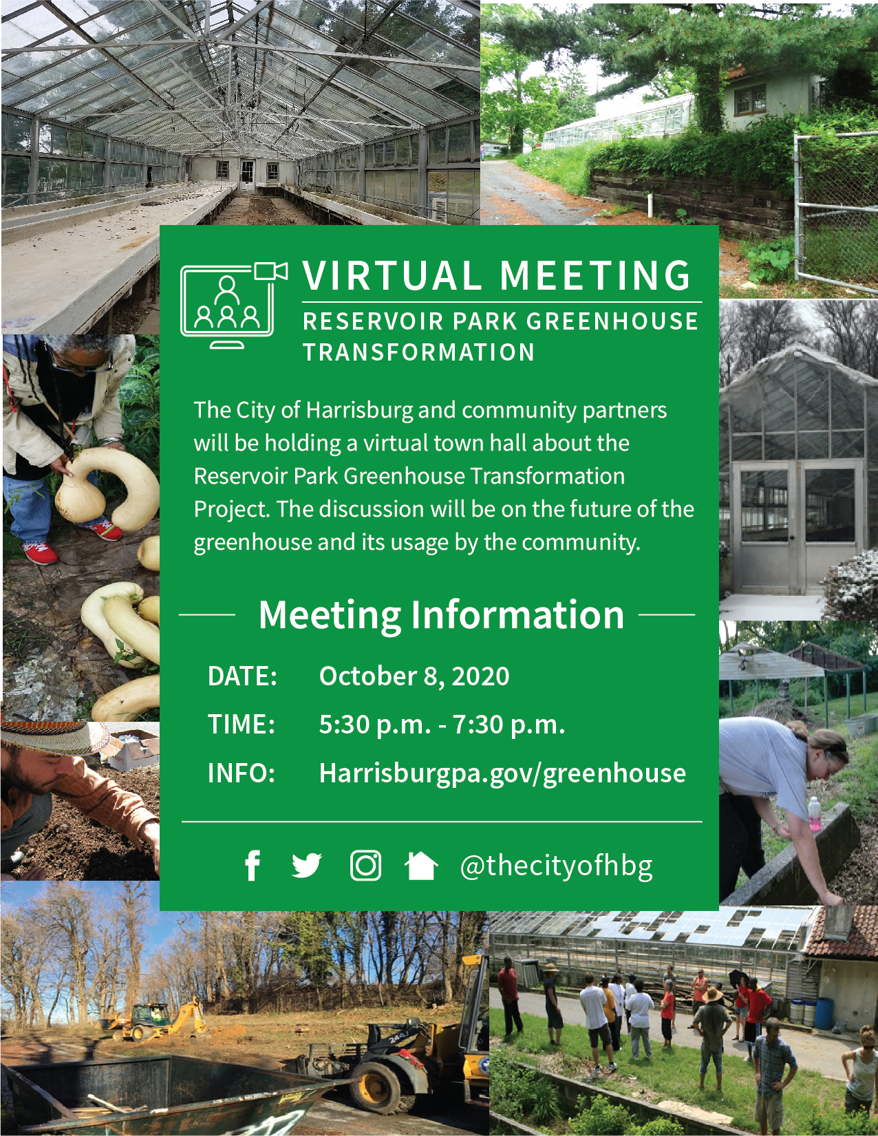greenhouse virtual town hall