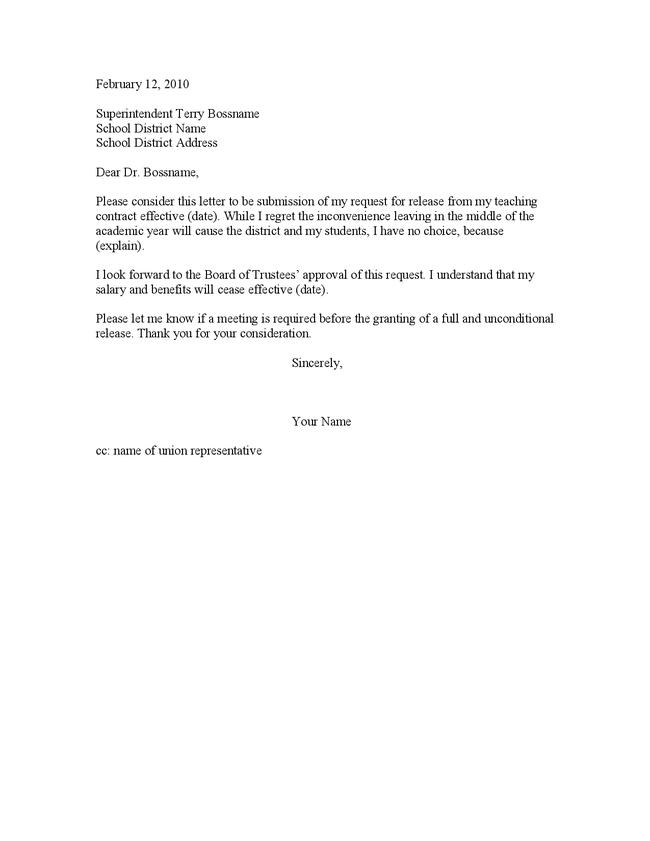 Teacher resignation letter template letter of resignation for retirement from teaching new calendar thecheapjerseys Images