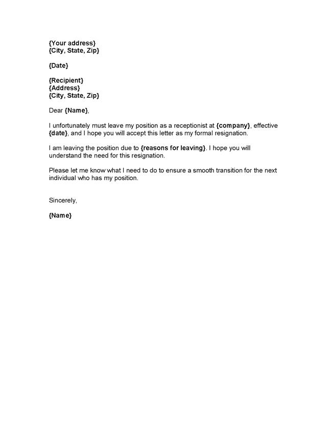 Formal resignation letter template formal resignation letter with 2 weeks notice altavistaventures Images