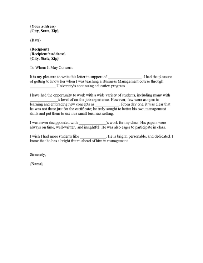 job reference letter template .