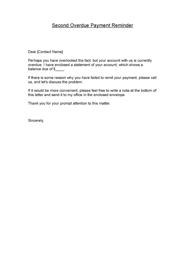 Sample Request Letter For Outstanding Payment