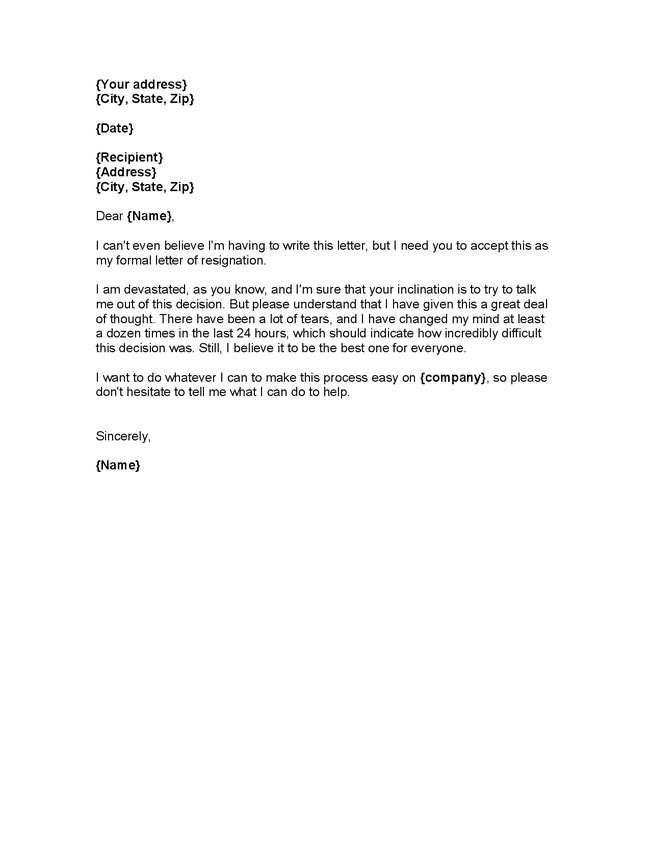 resignation letter examples 2 weeks notice 7 2 week notice letter – Samples of Resignation Letters with Regret