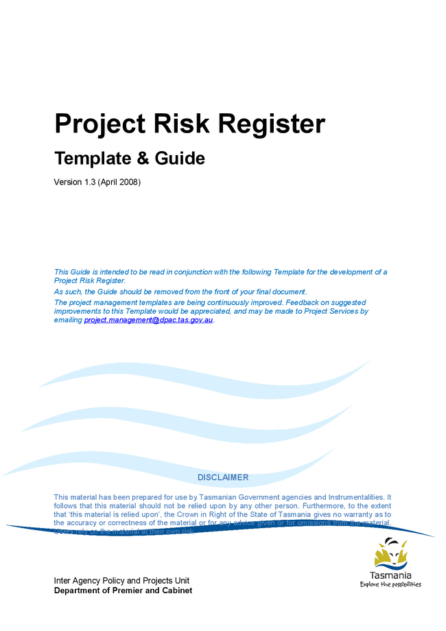 project management risk log template .