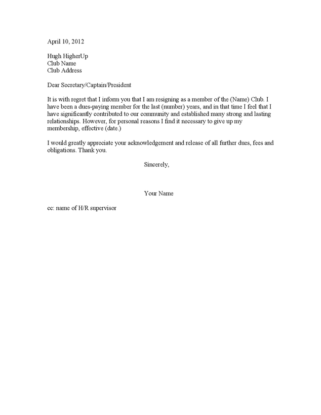 simple resignation letter sample sample resignation a simple ...
