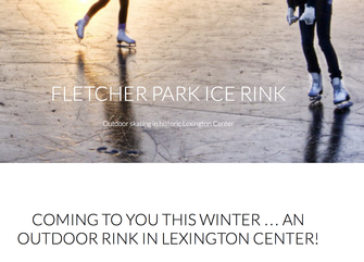 An ice skating rink in Lexington Center!
