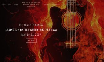 Lexington Battle Green BBQ Festival Fri-Sun May 19-21