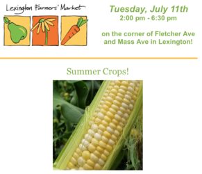 Lexington Farmers' Market, Tuesdays 2-6:30PM