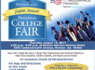 Annual College Fair Thursday August 10th, 6-8PM