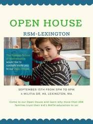 RSM Open House in Lexington and Belmont