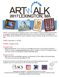 ArtWalk Nov 6-26, 2017