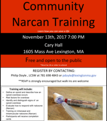 Save a Life: Get Narcan Training