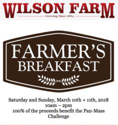 Farmers Breakfast at Wilson Farm, March 10-11