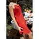 Ligne de Soie: Resort Coral Red Silk Dress