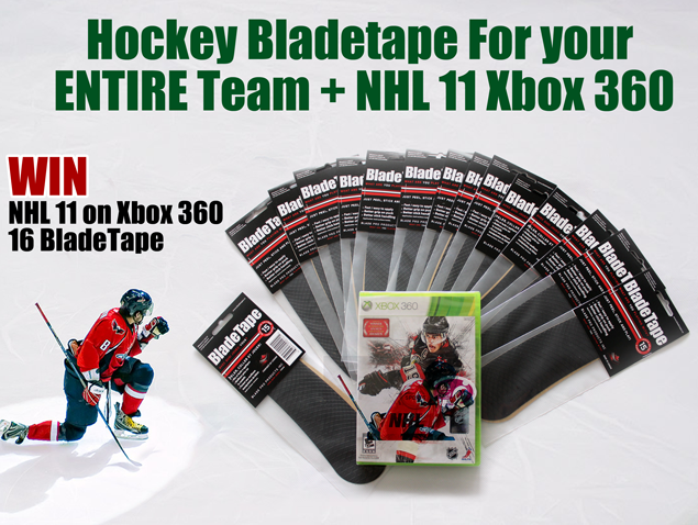 Win hockey bladetape for your entire team, and the NHL 11 on Xbox 360
