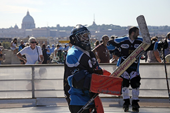 A hockey dream on the top of Rome, Italy.