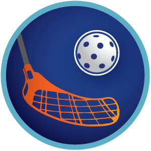 Floorball-badge