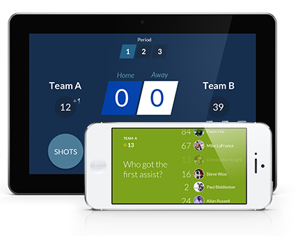 Hockey real time scorekeeping app
