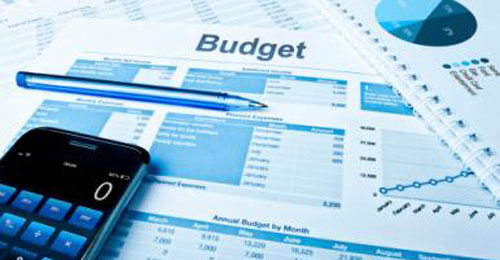 Photo of budget worksheet