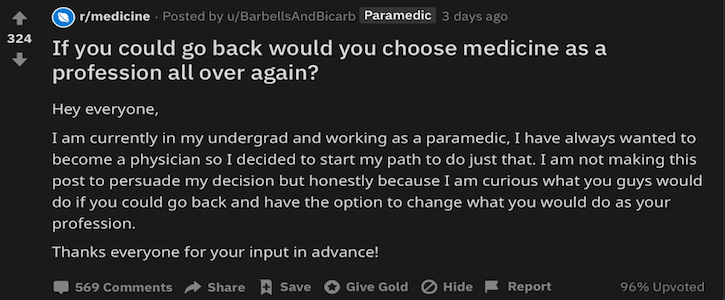 Is Medicine Worth It?