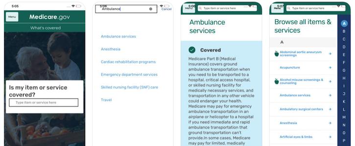 medicare app,emedicare,cms digital,what's covered app
