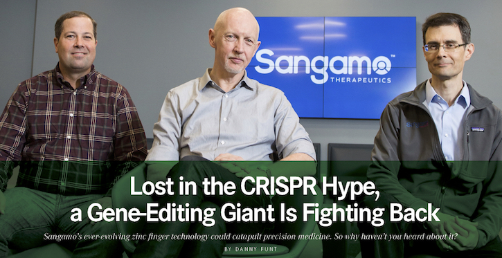 sangamo,zinc fingers,crispr alternative,hca news