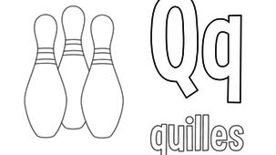 Coloriage - Lettres Q