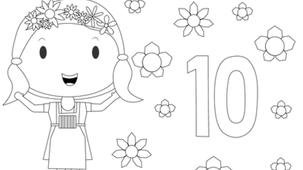 Coloriage - Fleurette 10