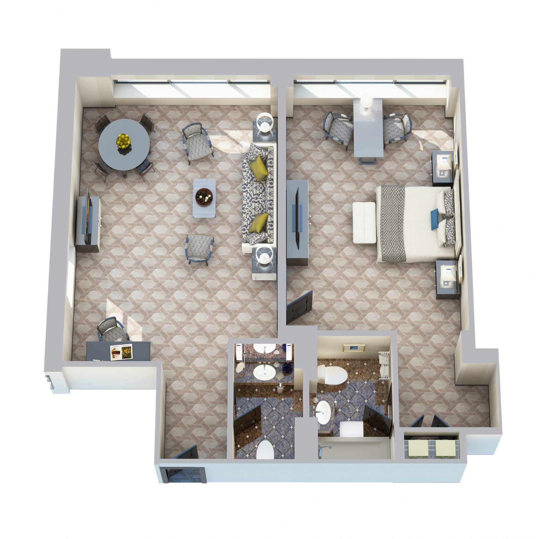 Deluxe One Bedroom Suite - 790 sq ft