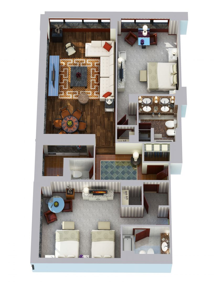 Two Bedroom Suite - 1675 sq ft