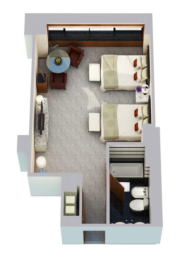 Tower Queen Room - 465 sq ft