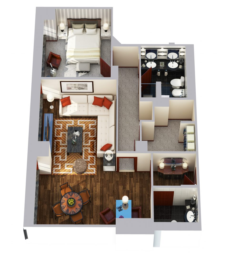 Towers One Bedroom Suite - 1065 sq ft