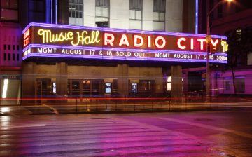 Nighttime at Radio City Music Hall