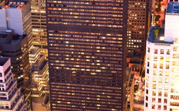 Aerial View of the Towers at The New York Palace
