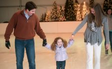 Family ice skating