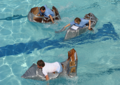 Cardboard Regatta, a popular choice, tests your team's creativity and reliance