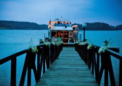 Imagine hosting your wedding on a fabulous yacht cruise on beautiful Lake Sidney Lanier