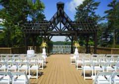 The Carriage House offers a beautiful view of Sunset Cove and Lake Sidney Lanier