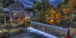 the old mill attraction near Econo Lodge Pigeon Forge