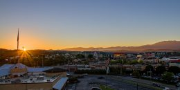 skyline of Pigeon Forge in Tennessee