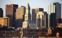 Stunning Daytime Skyline Views of Boston Harbor and the City at Revere Hotel Boston Common