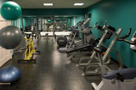 24 Hour Fitness Center - Stay in shape while you are on the road