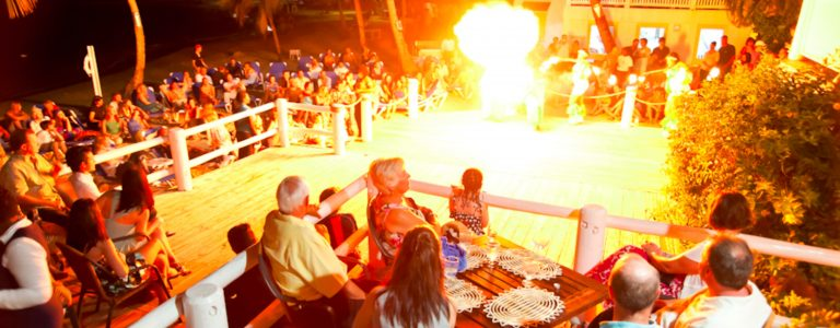 cocktail jammer event at St Lucia beach resort
