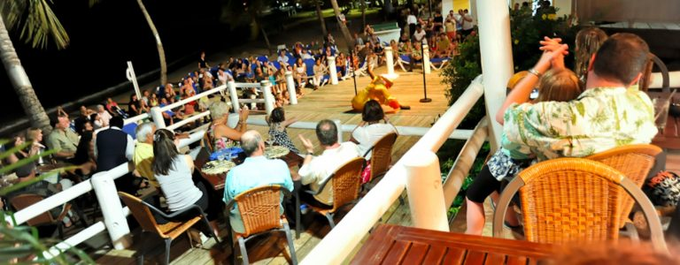 cocktail party event at Windjammer Landing beach resort