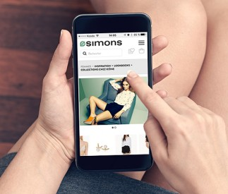 Site Web mobile de Simons