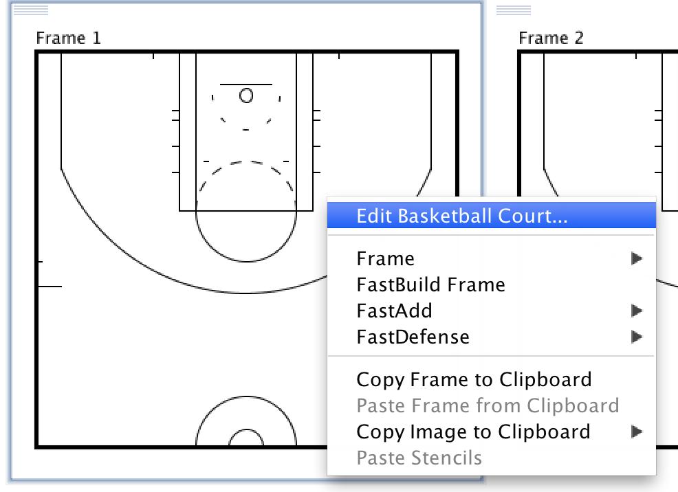 High school basketball court layout