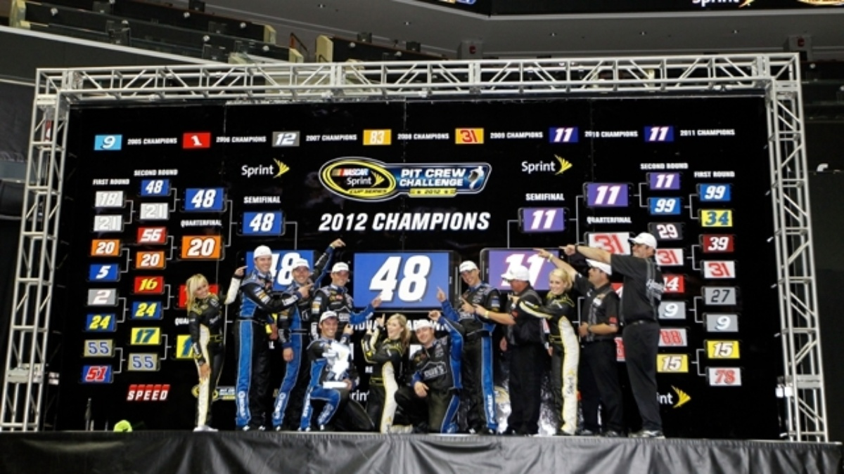 No. 48 team dethrones No. 11 in Pit Crew Challenge&#x3B; Kerr wins jackman honors