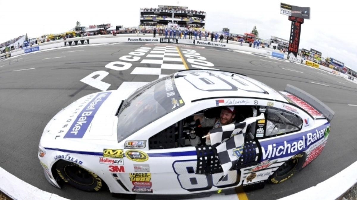Victory gives Earnhardt Pocono sweep